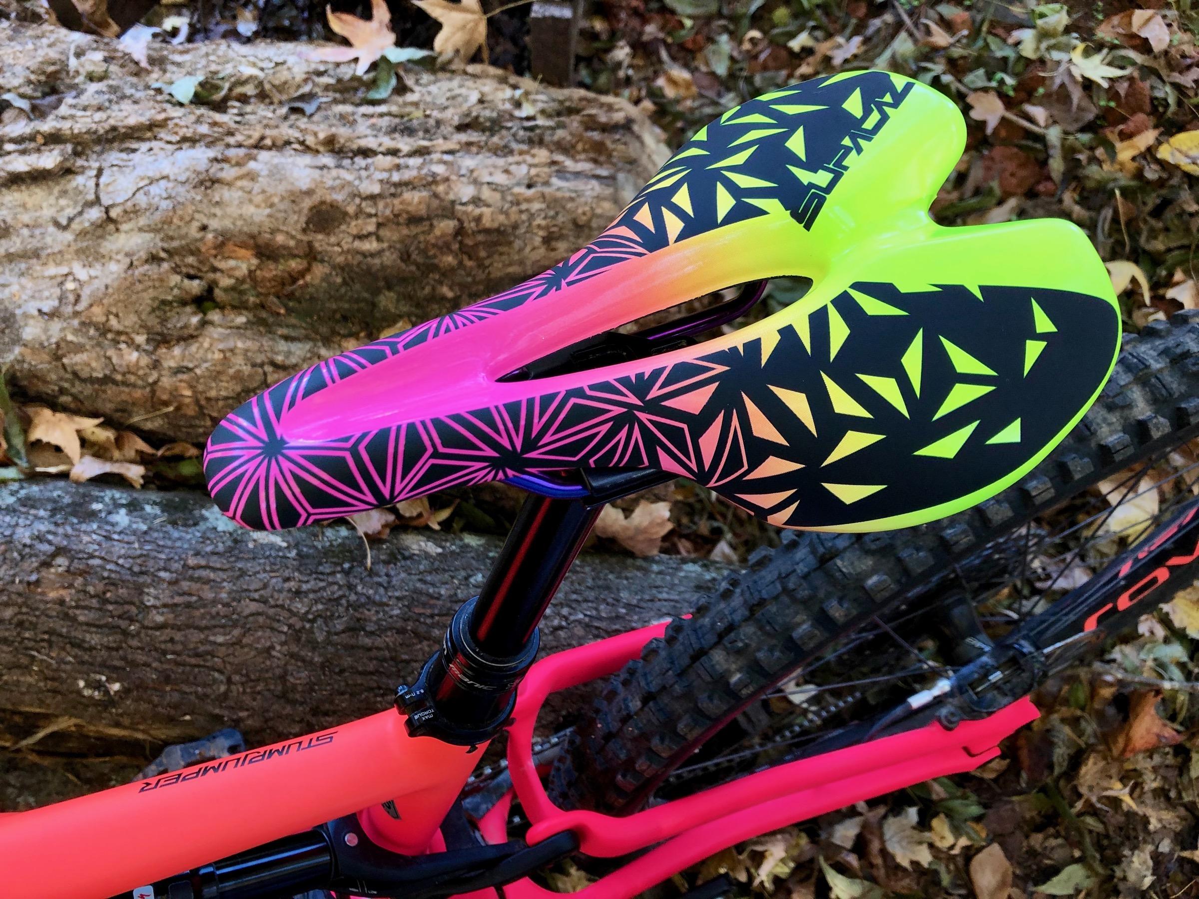 Neon Pink /& Neon Purple SUPACAZ Ignite Ti Saddle