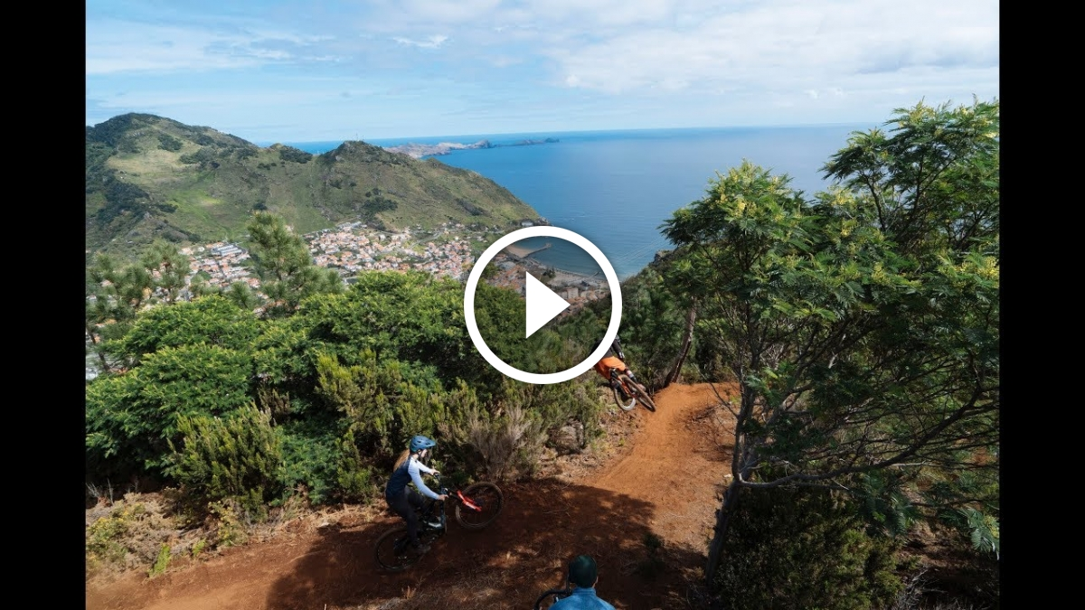 Watch: Veronique Sandler and Brendan Fairclough Explore Madeira Island for VISION Movie - Singletracks Mountain Bike News