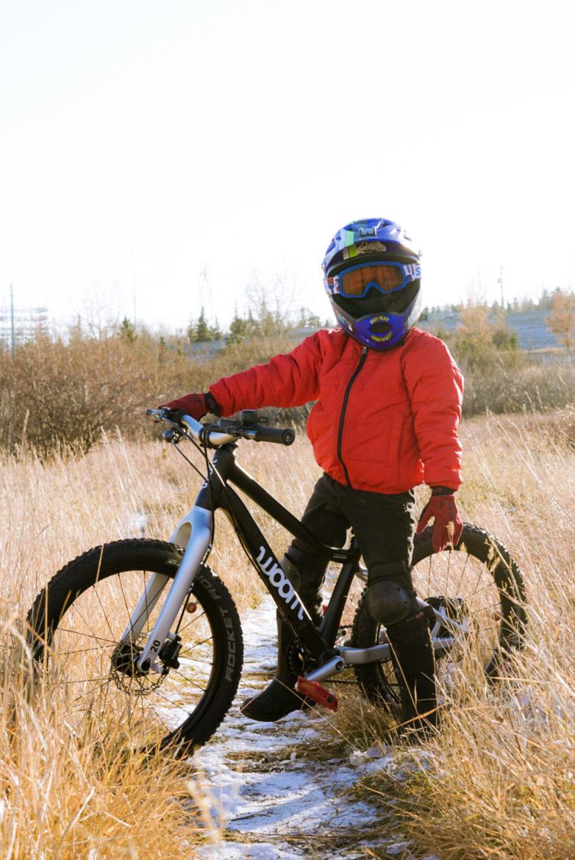 woom kids bike full face helmet