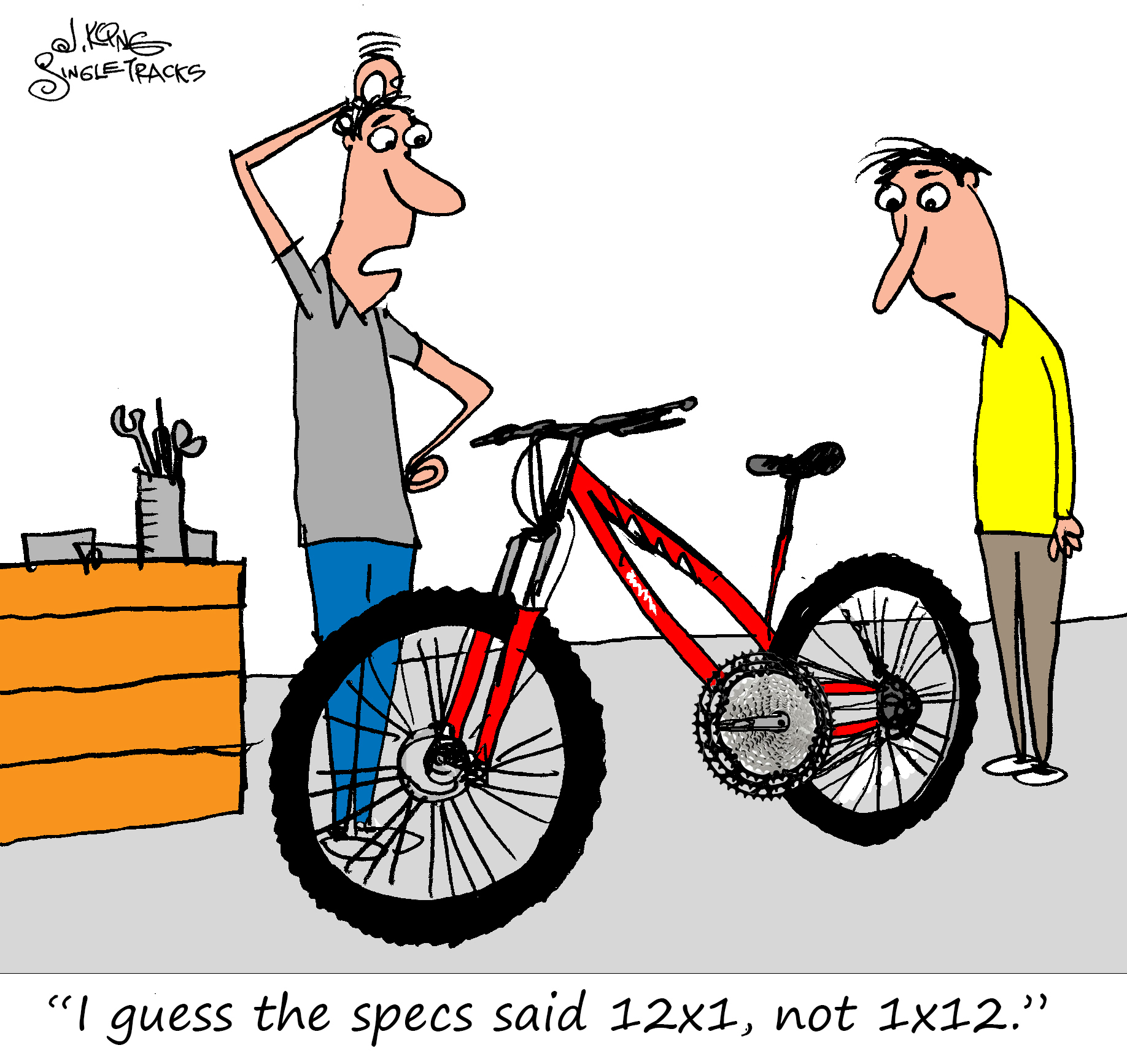 Mountain Bike Drivetrains [Cartoon] - Singletracks Mountain Bike News