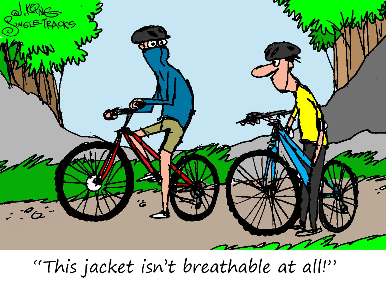 Waterproof, but is it Breathable? [Cartoon] - Singletracks Mountain Bike News