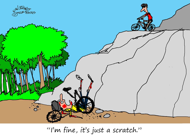 It's Just a Scratch [Cartoon] - Singletracks Mountain Bike News