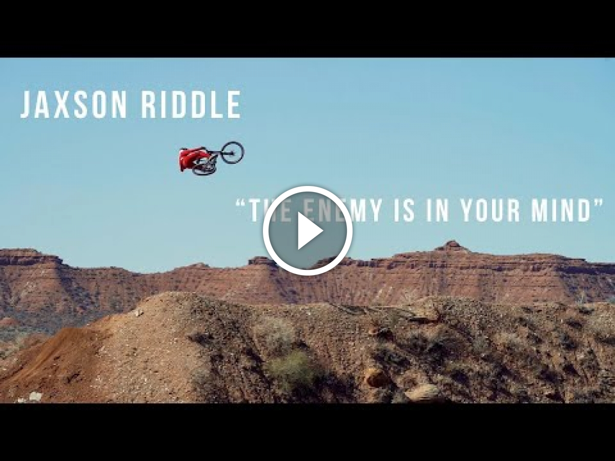 The Enemy is in your Mind: Jaxson Riddle Attempts Massive Step Down [Video] - Singletracks Mountain Bike News
