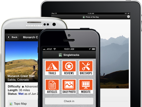 Singletracks mobile apps iphone android singletracks find a nearby mountain bike trail in the singletracks mobile app now with the most comprehensive mountain bike trail map database in the world gumiabroncs Image collections